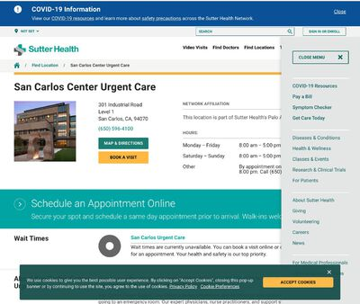 STD Testing at Sutter Urgent Care - San Carlos