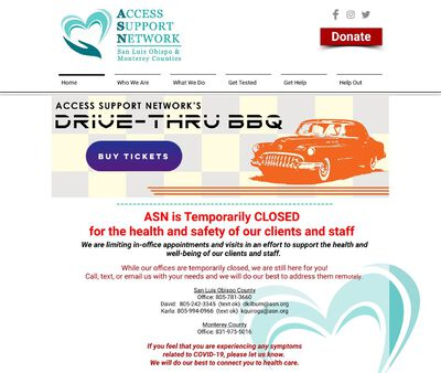 STD Testing at Access Support Network, San Luis Obispo County Office