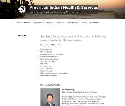 STD Testing at American Indian Health & Services