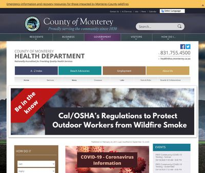 STD Testing at County of Monterey Health Department
