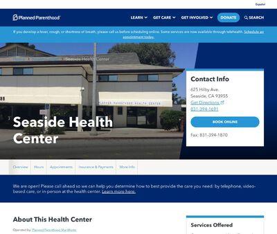 STD Testing at Planned Parenthood – Seaside Health Center