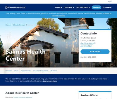 STD Testing at Planned Parenthood - Salinas Health Center