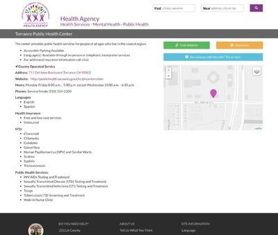 STD Testing at Los Angeles County Department of Public Health (Torrance Health Center)