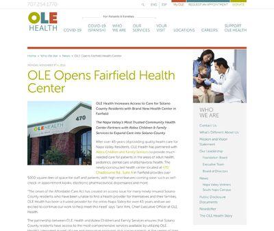 STD Testing at OLE Health - Fairfield