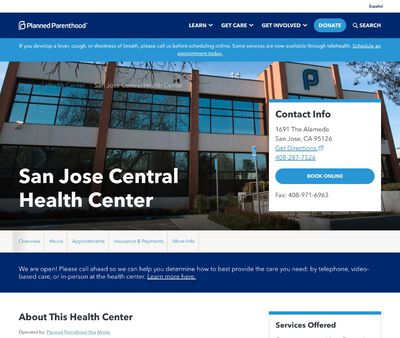STD Testing at Planned Parenthood Mar Monte (San Jose Health Center)