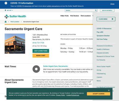STD Testing at Sutter Urgent Care - Sacramento