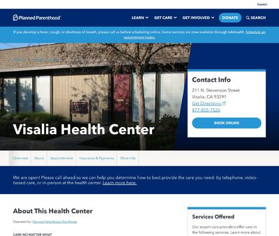 STD Testing at Planned Parenthood Mar Monte (Visalia Health Center)