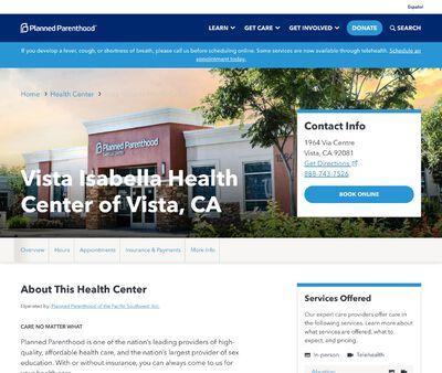 STD Testing at Planned Parenthood - Vista Isabella Health Center of Vista Isabella, CA