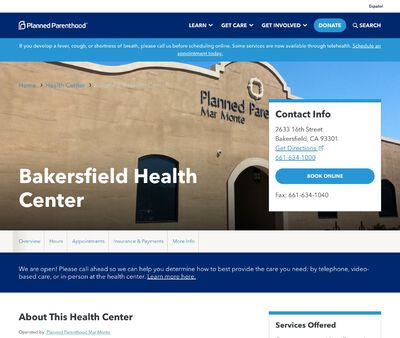 STD Testing at Planned Parenthood - Bakersfield Health Center