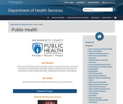 STD Testing at Sacramento County Health Department
