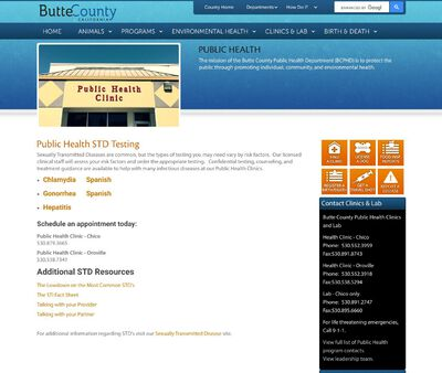 STD Testing at Butte County Health Department