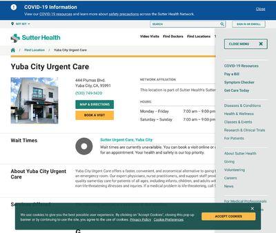 STD Testing at Sutter Urgent Care - Yuba City