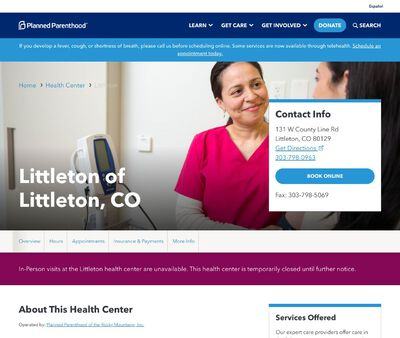 STD Testing at Planned Parenthood - Littleton Health Center