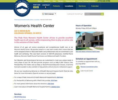 STD Testing at Peak Vista Women's Health Center
