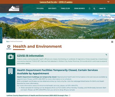 STD Testing at Larimer County Department of Health and Environment (Fort Collins Health Department)