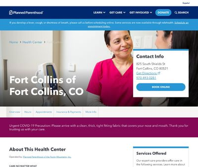 STD Testing at Planned Parenthood of the Rocky Mountains (Fort Collins Health Center)