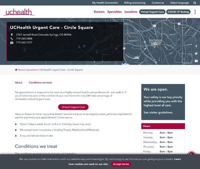 STD Testing at UCHealth Urgent Care - Circle Square