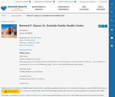 STD Testing at Denver Health (Bernard F Gipson Eastside Family Health Center)