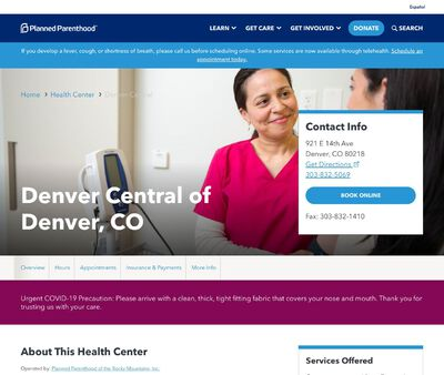 STD Testing at Planned Parenthood of the Rocky Mountains (Denver Central Health Center)