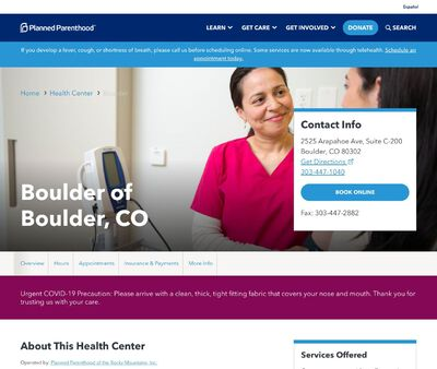 STD Testing at Planned Parenthood of the Rocky Mountains (Boulder Health Center)