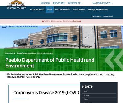 STD Testing at The Pueblo Department of Public Health Environment