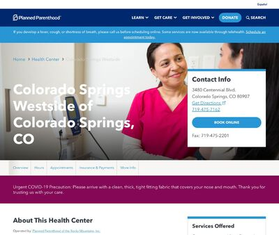 STD Testing at Planned Parenthood - Colorado Springs Westside Health Center of Colorado Springs, CO