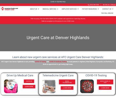STD Testing at AFC Urgent Care Denver Highlands