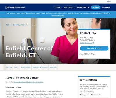 STD Testing at Planned Parenthood - Enfield Health Center