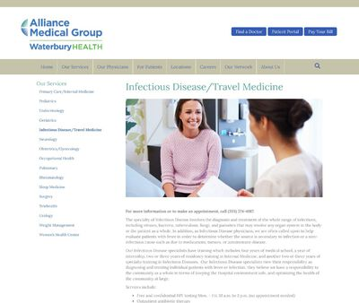 STD Testing at Alliance Medical Group: INFECTIOUS DISEASE/TRAVEL