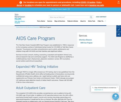 STD Testing at Yale New Haven Hospital