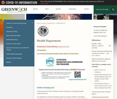 STD Testing at Greenwich Department of Health