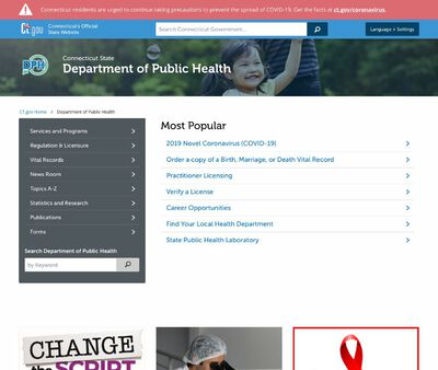 STD Testing at Connecticut Department of Public Health