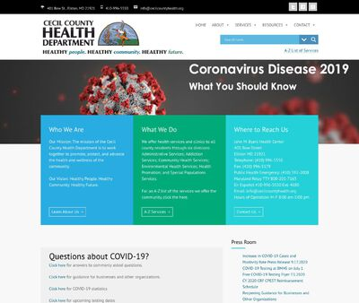 STD Testing at Maryland Department of Health and Mental Hygiene, Cecil County Health Department