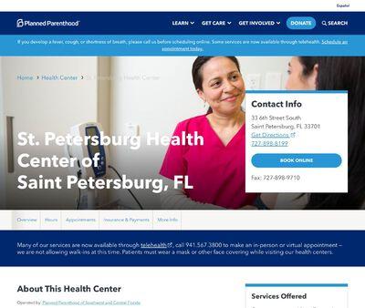 STD Testing at St. Petersburg Health Center of St. Petersburg, FL