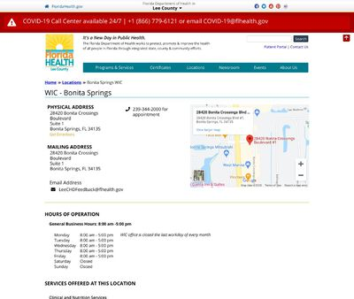 STD Testing at Florida Department of Health in Lee County-WIC Bonita Springs