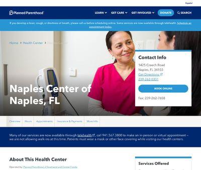 STD Testing at Planned Parenthood Naples Health Center