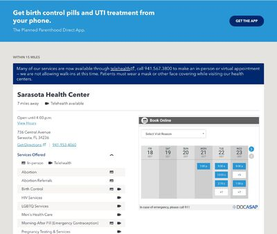 STD Testing at Planned Parenthood - Manatee Health Center
