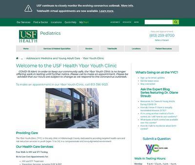 STD Testing at Ybor Youth Clinic