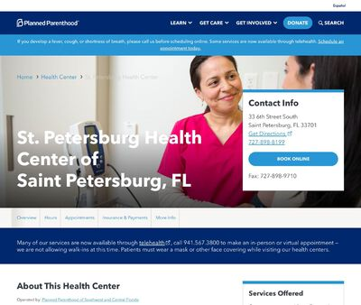 STD Testing at Planned Parenthood of Southwest and Central Florida (St. Petersburg Health Center)
