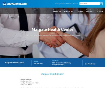 STD Testing at Broward Health, Margate Health Center