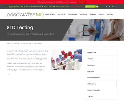STD Testing at AssociatesMD Urgent Care