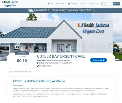STD Testing at UHealth Jackson Urgent Care - Cutler Bay