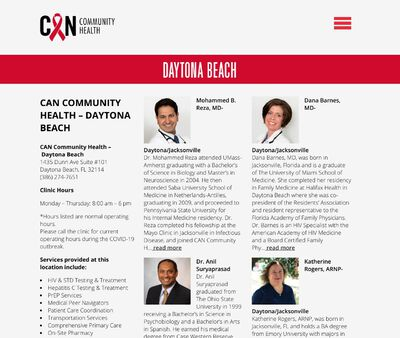 STD Testing at CAN Community Health - Daytona Beach