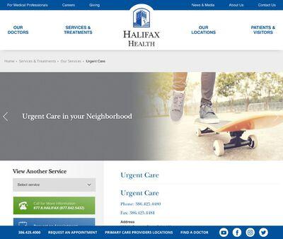 STD Testing at Halifax Health - Urgent Care
