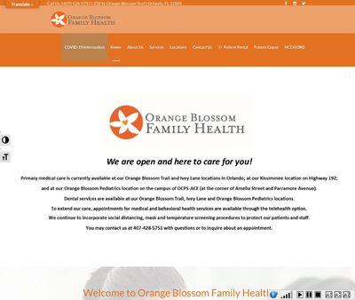 STD Testing at Orange Blossom Family Health-Sanford Clinic.