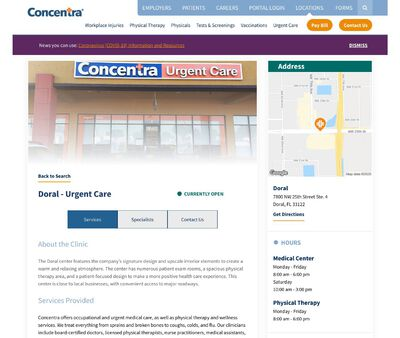 STD Testing at Concentra Doral Urgent Care Clinic