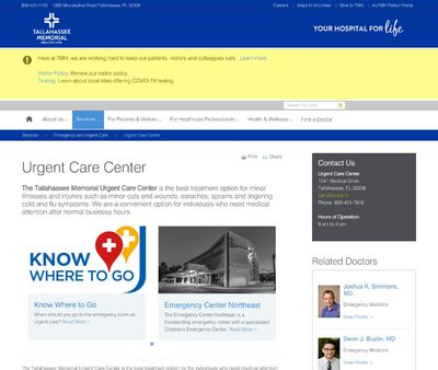 STD Testing at Tallahassee Memorial Urgent Care Center