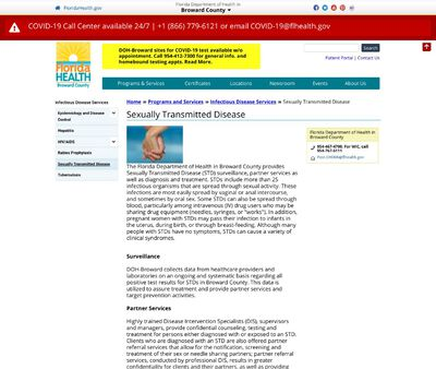 STD Testing at The Broward County Health Department