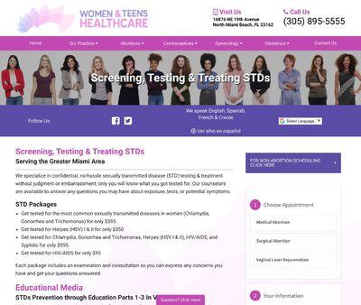 STD Testing at Women & Teens Healthcare