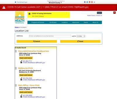 STD Testing at Florida Health Brevard County